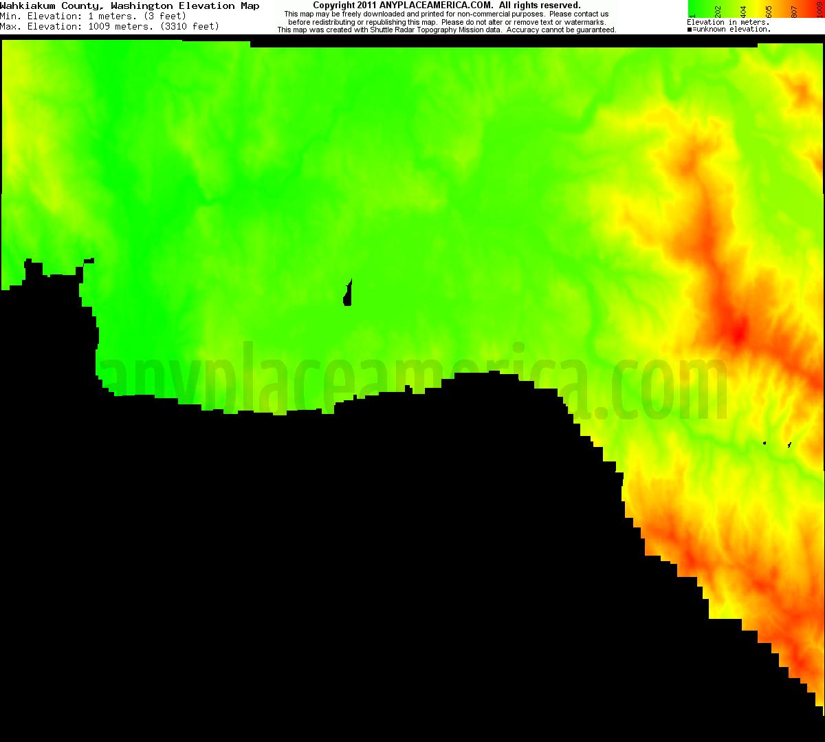 Elevation Of Washington County Ar Usa: Free Wahkiakum County, Washington Topo Maps & Elevations