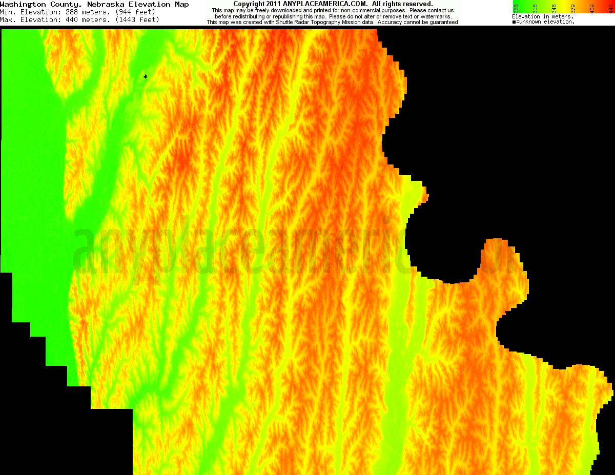 Free Washington County Nebraska Topo Maps Elevations