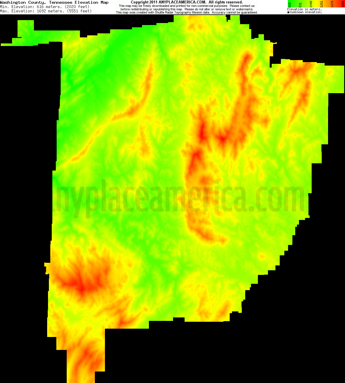 Elevation Of Washington County Ar Usa: Free Washington County, Tennessee Topo Maps & Elevations