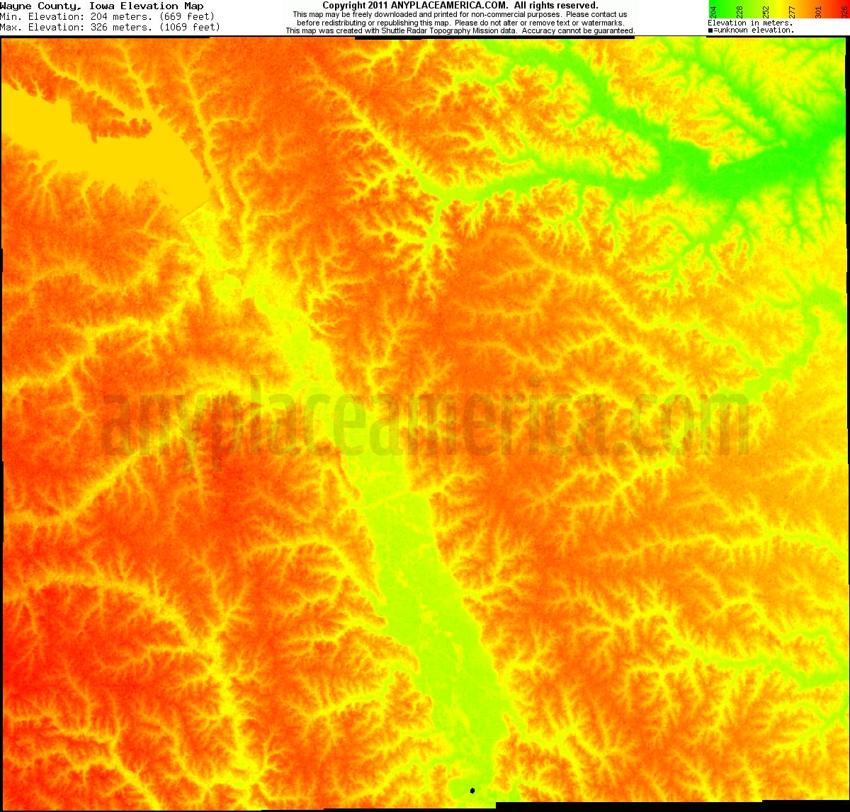 free wayne county iowa topo maps elevations free wayne county iowa topo maps