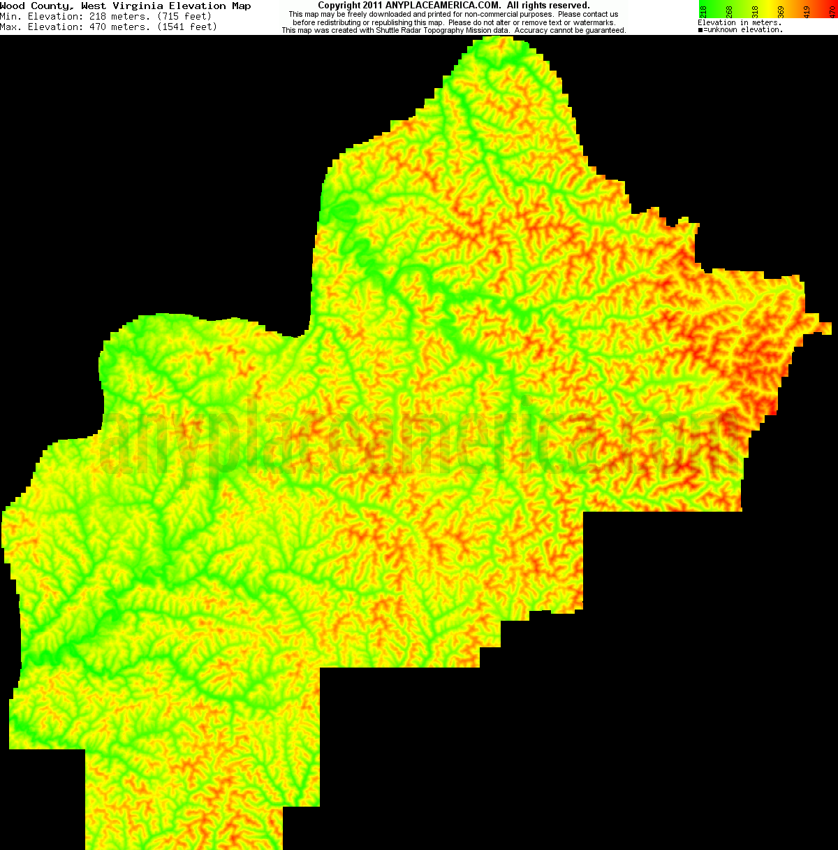 Wood Elevation Xp : Free wood county west virginia topo maps elevations
