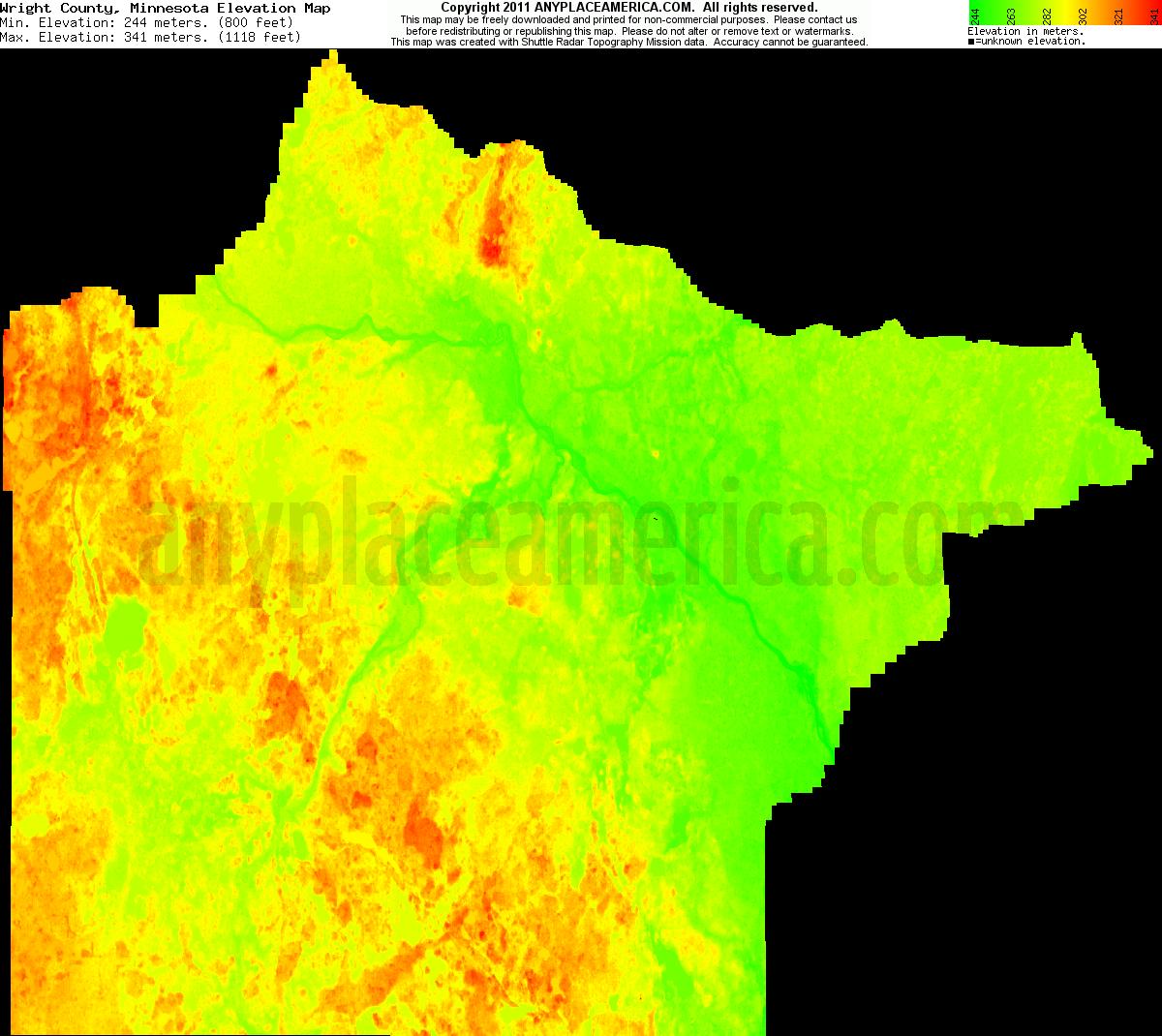 Free Wright County Minnesota Topo Maps Amp Elevations