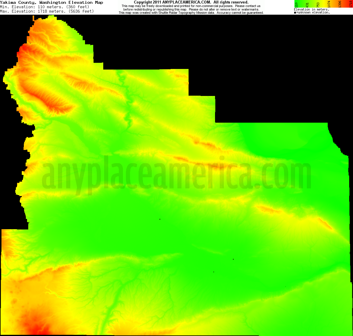 Elevation Of Washington County Ar Usa: Free Yakima County, Washington Topo Maps & Elevations