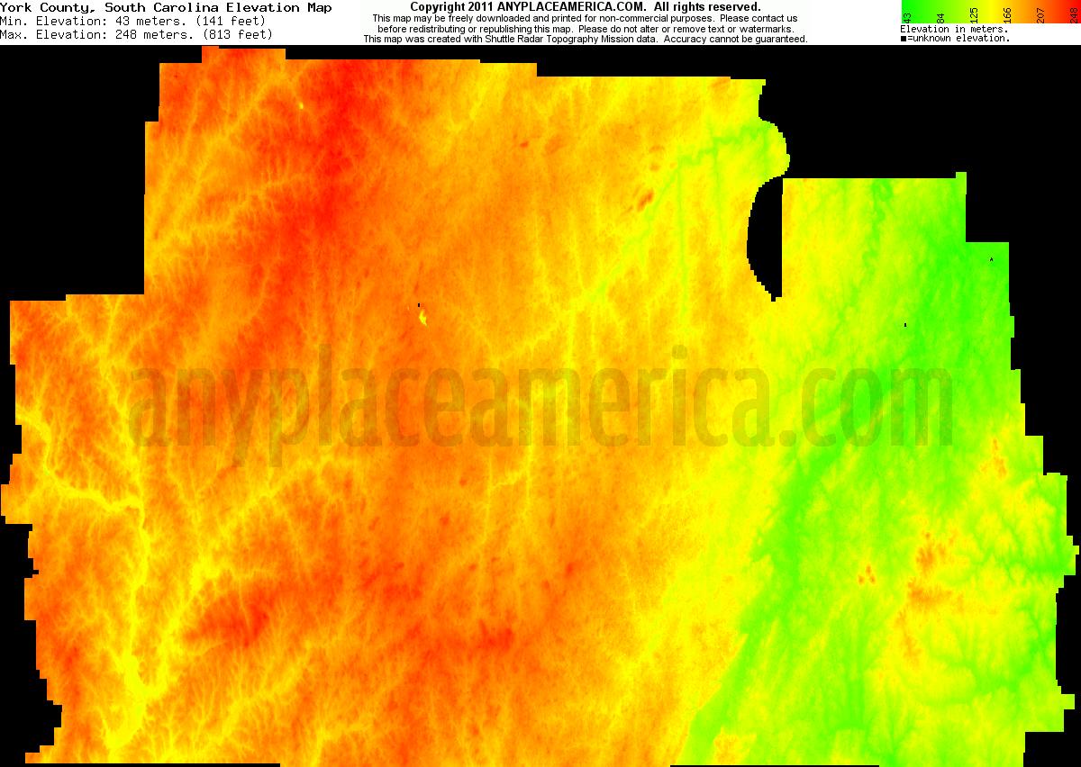 Free York County, South Carolina Topo Maps & Elevations York County Map Of South Carolina on high school in york south carolina, united states map of south carolina, york co south carolina, fort mill map of south carolina, york air conditioner,