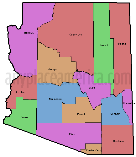 Free Arizona Maps