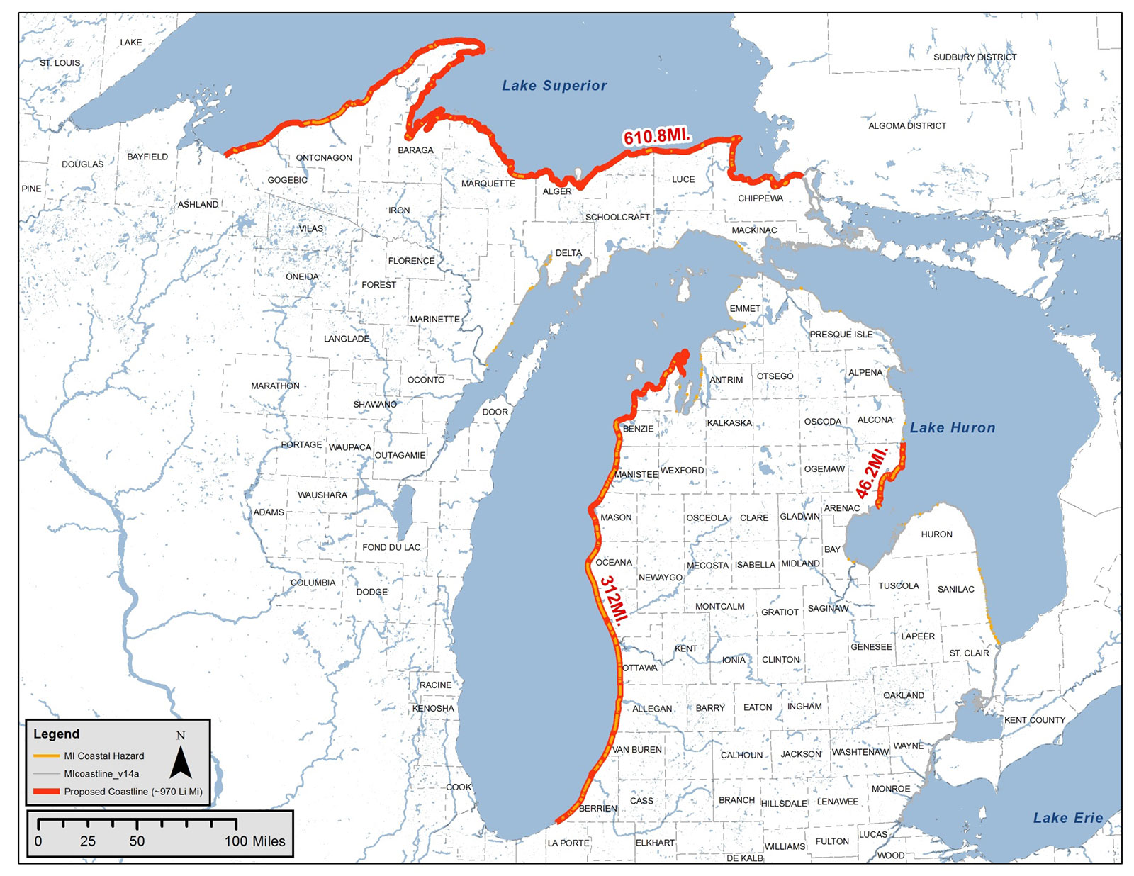 Michigan Coastal Mapping and Risk Assessment | AES