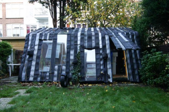 Shed Made of Recycled Tires