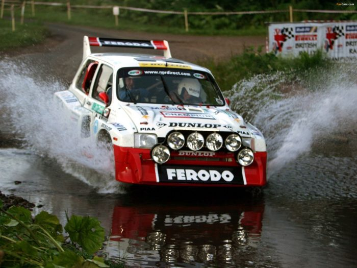The MG Metro is one of the most famous and fatest rally cars in the circuit