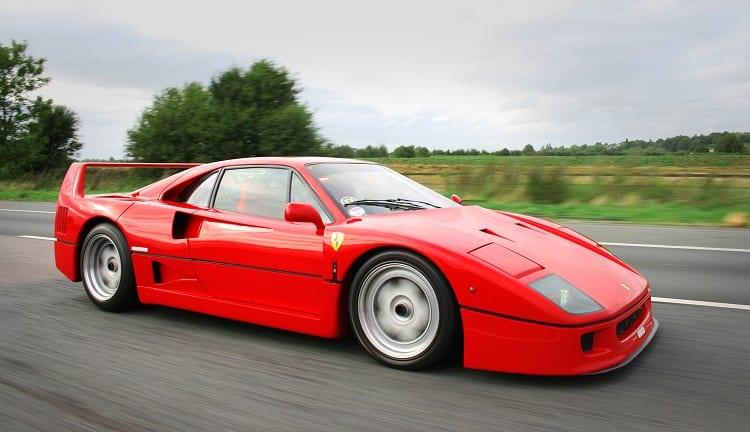 Ferrari F40 on road