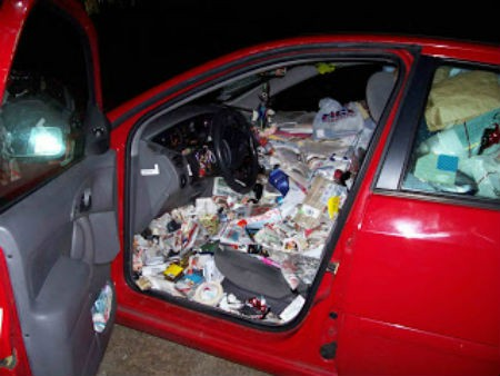 Car Filled With Trash Is One Of The best Car Accident Stories