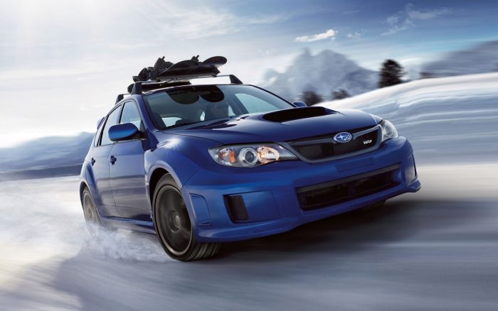 The Subaru STi is one of the best cars for the snow