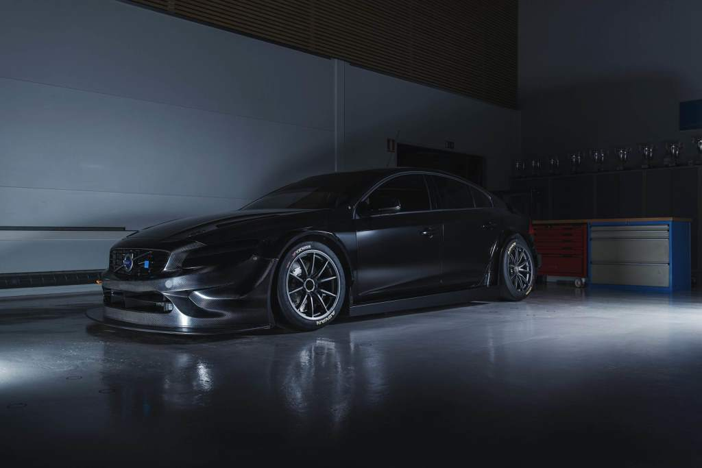 Volvo Race Car S60 TC1 Polestar in the garage