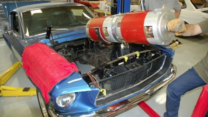 EV Conversion Kit Being Installed