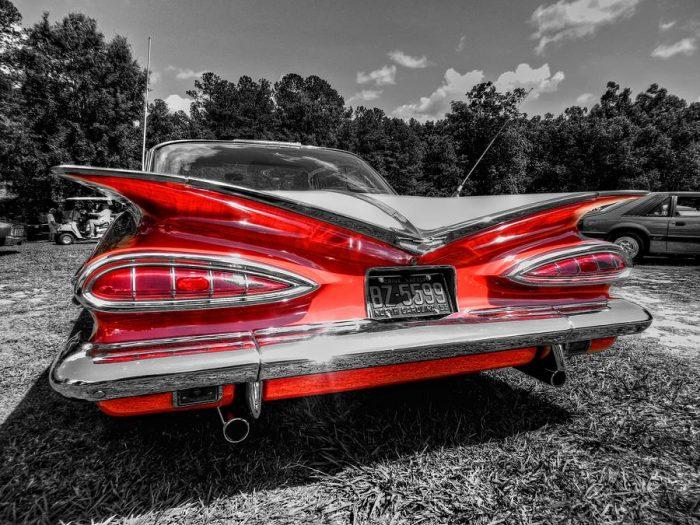 1950s cars - impala fins