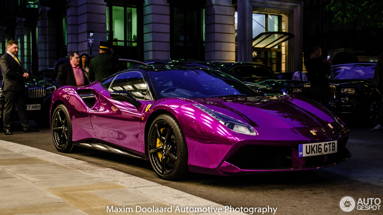 Chrome Purple Ferrari 488 GTB Spotted