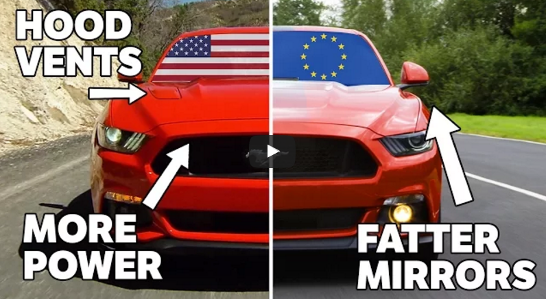 Euro Mustang American Mustang Differences