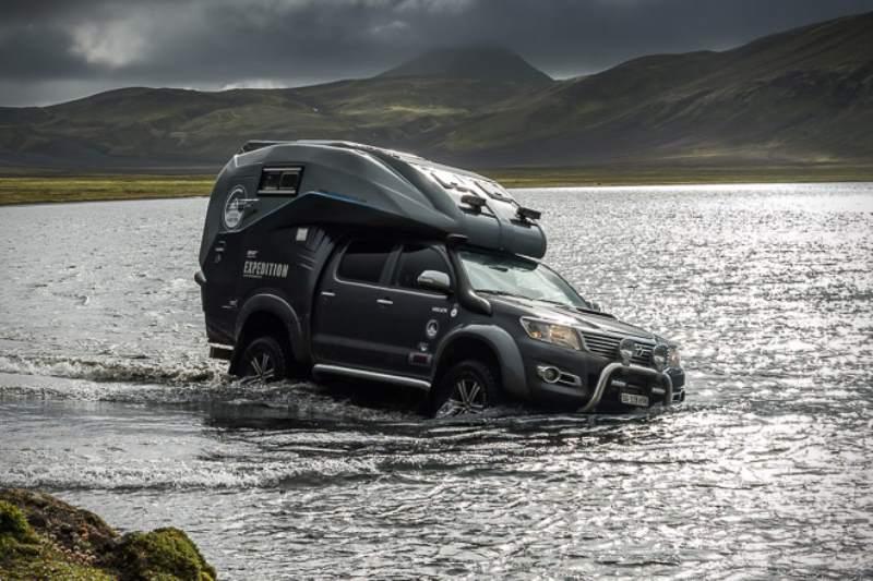 Toyota Hilux Expedition V1 Camper Fording Water