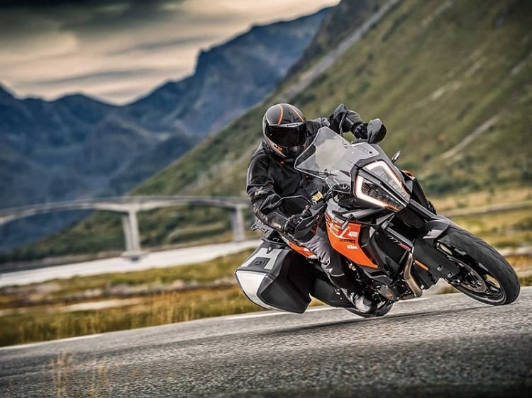 KTM Adventure Motorcycle on pavement