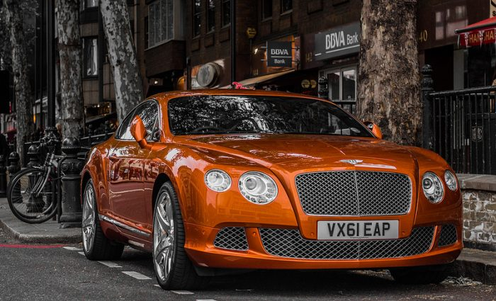 A Bentley Continental GT.