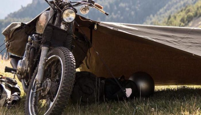 Stay Exposed Bivouac Attached To A Motorcycle