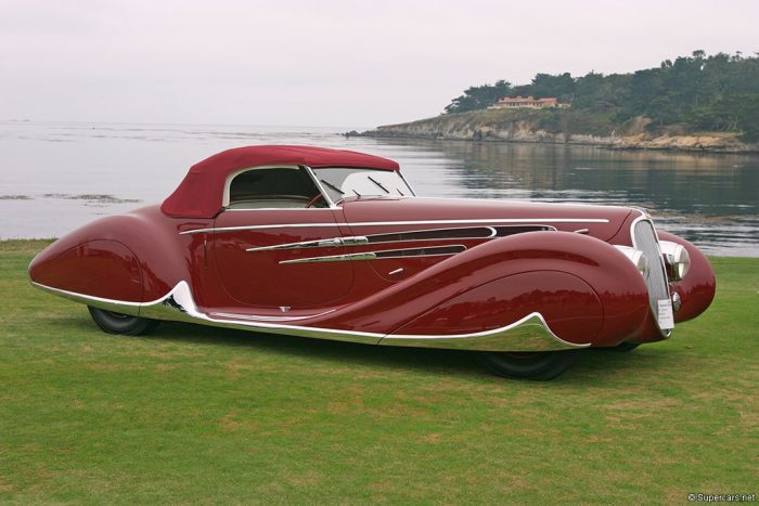 The 1938 Delahaye 165 tops our list of sexy cars.