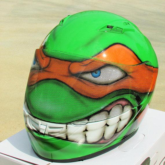 Turtles Themed Custom Motorcycle Helmets