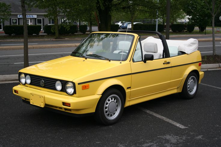 The VW Rabbit Cabrio is an old-school girl car.