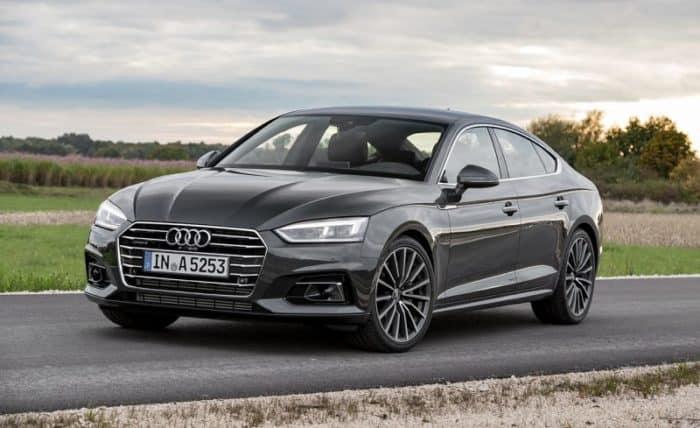 Audi A5 Sportback front 3/4 view