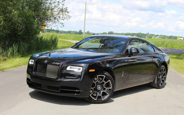 Rolls Royce Wraith Black Badge 3/4 view