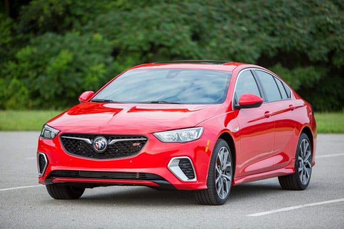 Buick Regal GS front 3/4 view