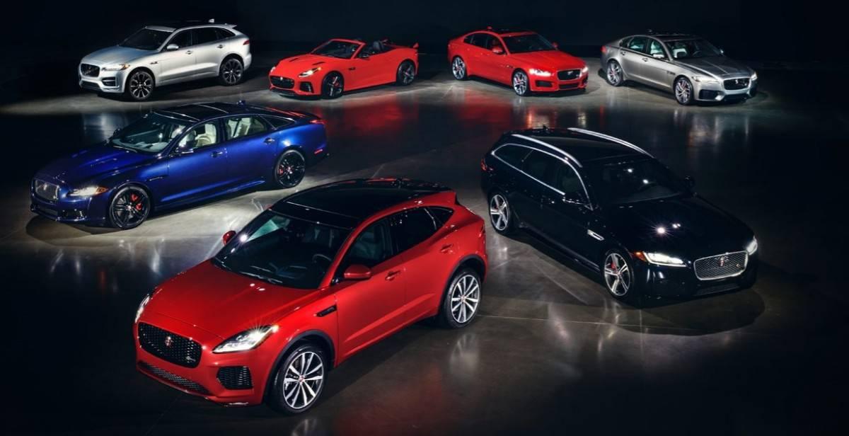 2018 Jaguar model lineup
