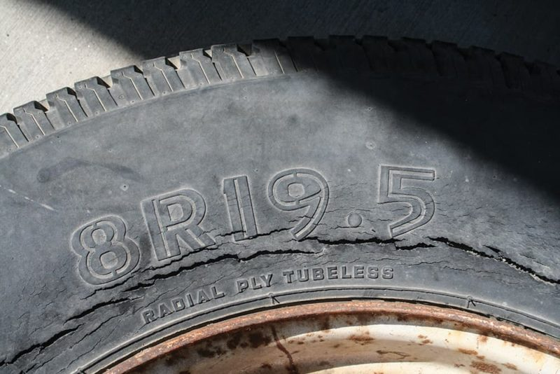 Dried out tires