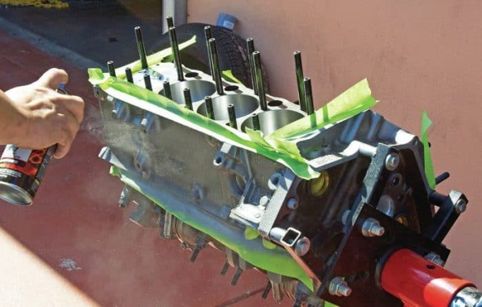painting engine block