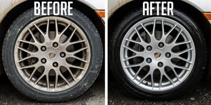 Rims Before and after cleaning