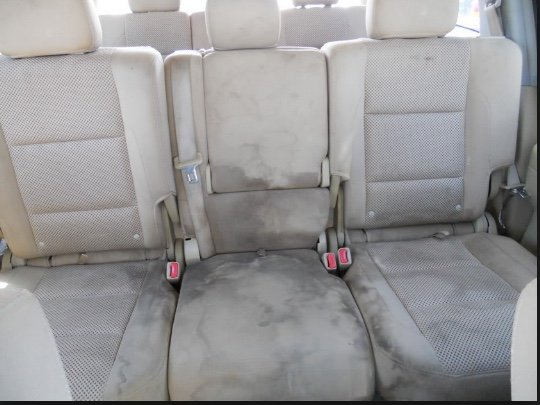 dirty car seats