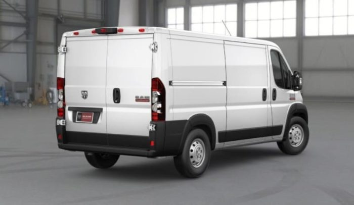 2018 Ram ProMaster - right rear view