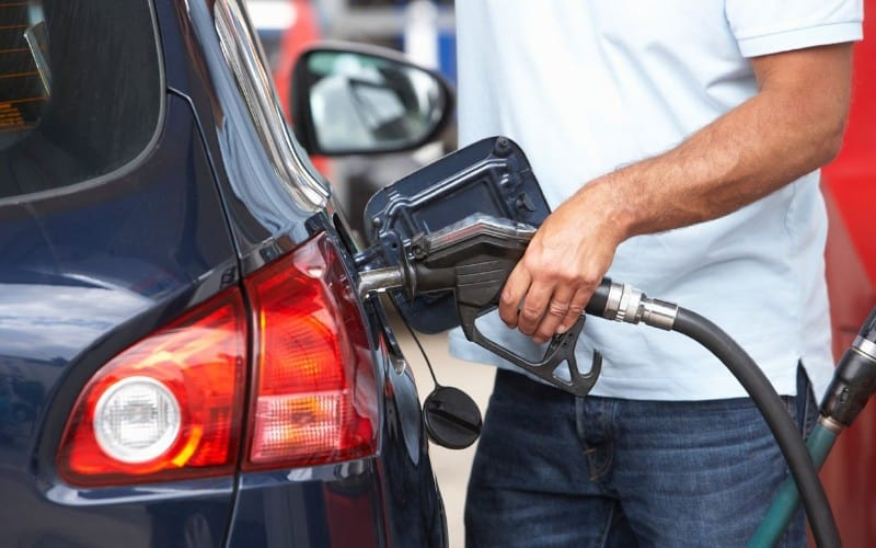 pumping fuel into car