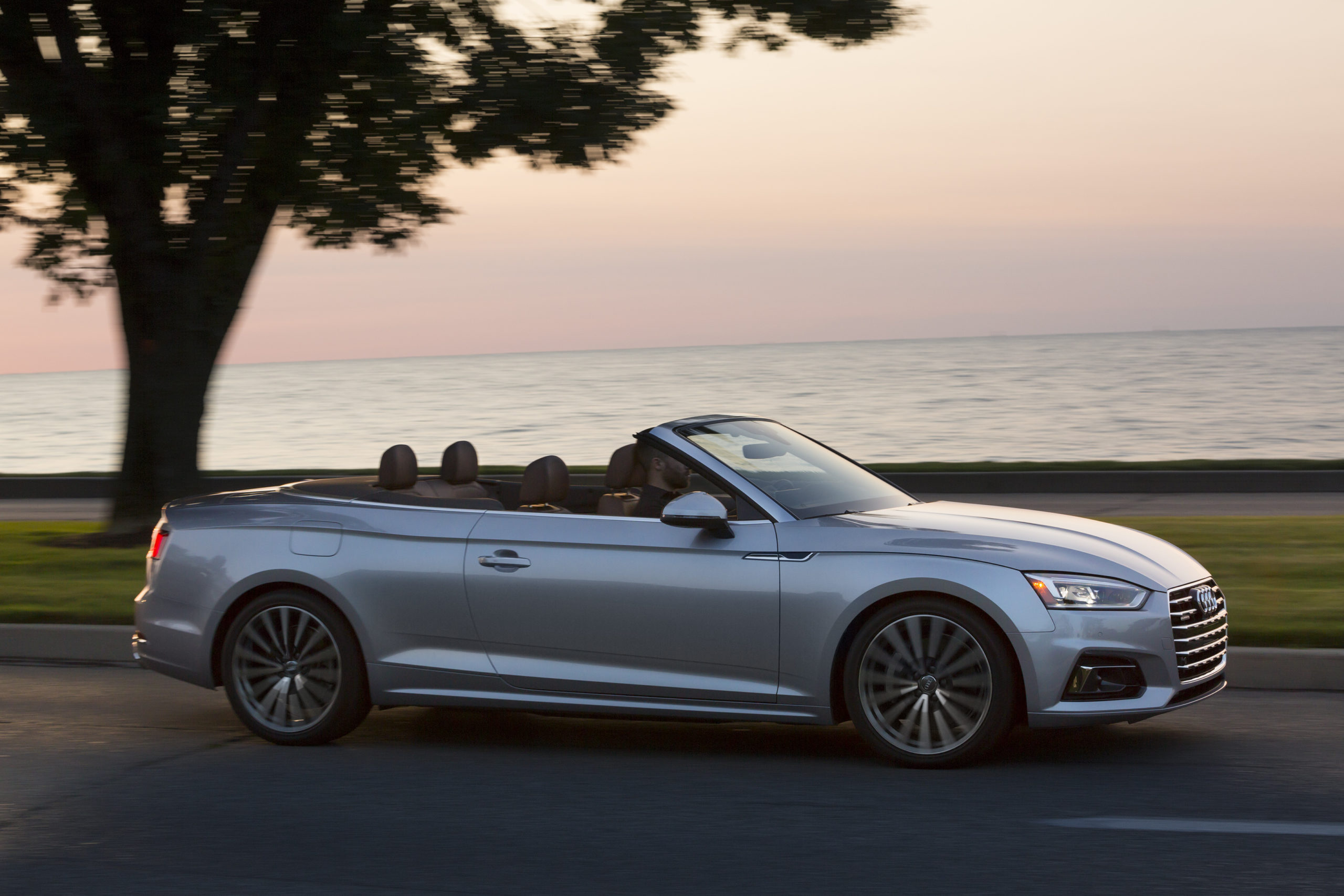 Silver 2021 Audi A5 Cabriolet - best 4 seat convertibles