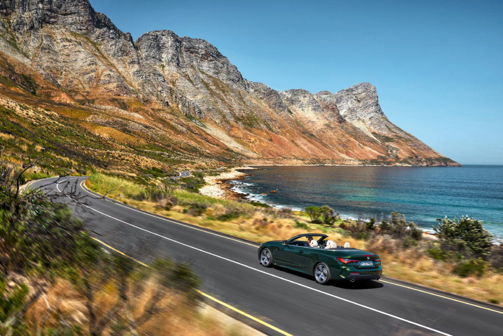 4 seat convertibles - BMW 4 series on road