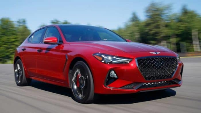 Genesis G70 front 3/4 view