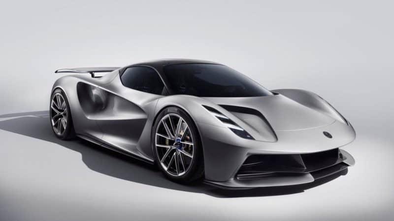 2020 Lotus Evija front 3/4 view