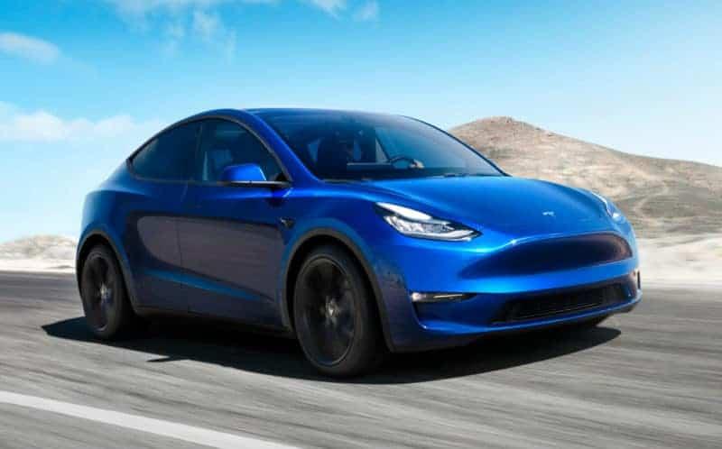 Tesla Model Y front 3/4 view