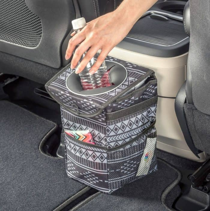 Center console car trash can