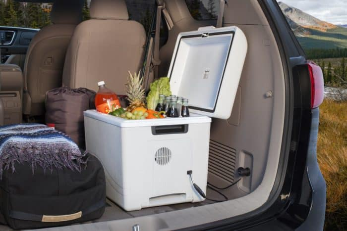 Car cooler being used