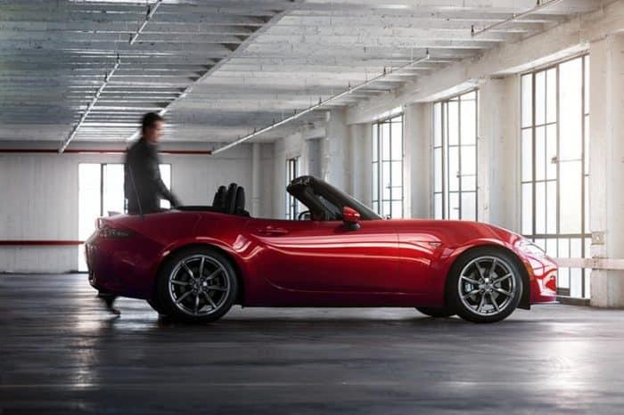 Mazda Miata Parked Side View