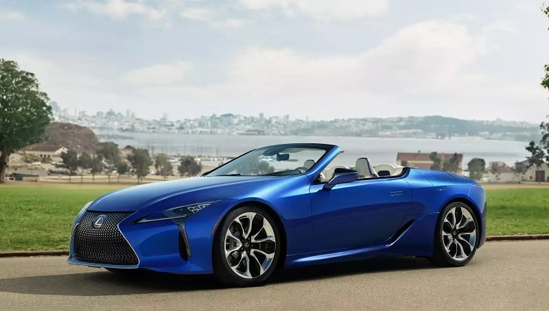 2021 Lexus LC500 Convertible Side View