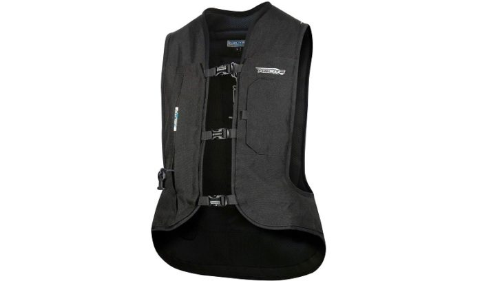 Helite Turtle 2 Black Airbag Vest for Motorcyclists