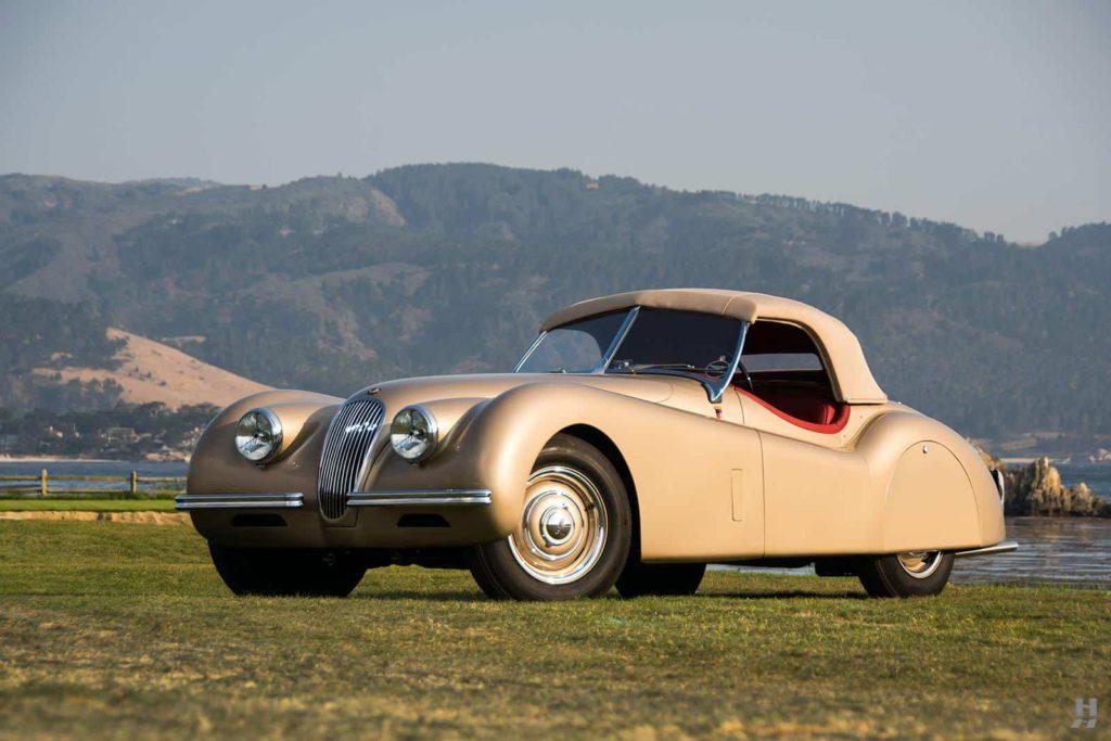 1952 jaguar xk120 roadster ex clark gable on grass