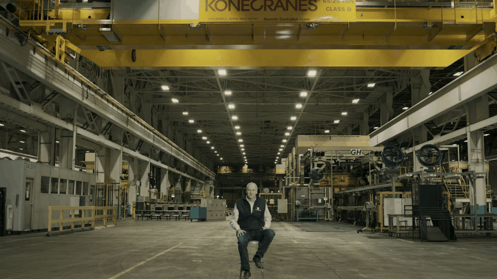 steve burns in empty Lordstown Motors factory