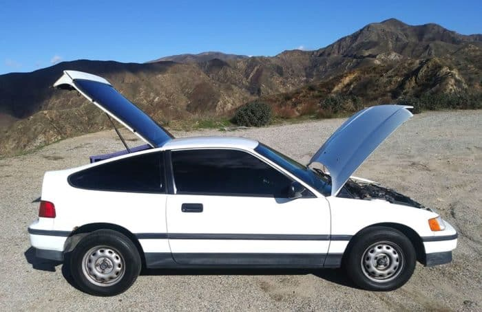 White 1988 Honda CRX DX